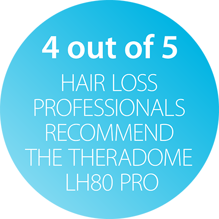 hair loss professionals recommend theradome